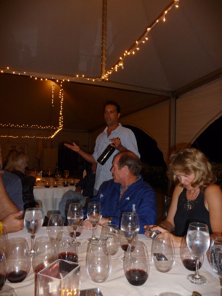 Godsend winemaker dinner under the stars with Frank Leal at Leal Vineyards
