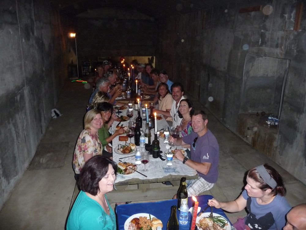 Lunch in the Pisoni caves