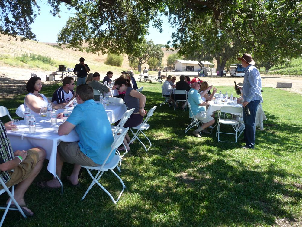 Lunch at Stolpman Vineyards