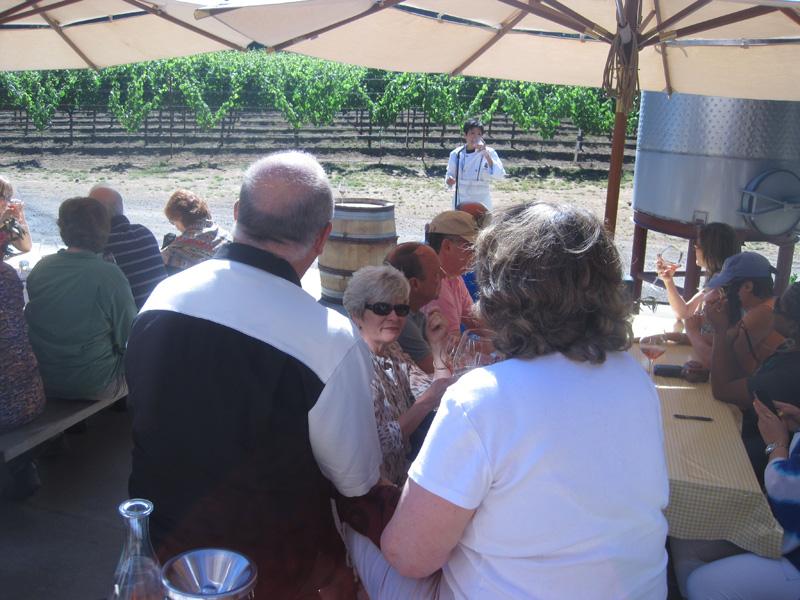 Pinot Noir food pairing seminar in the vineyards at Toulouse Vineyards
