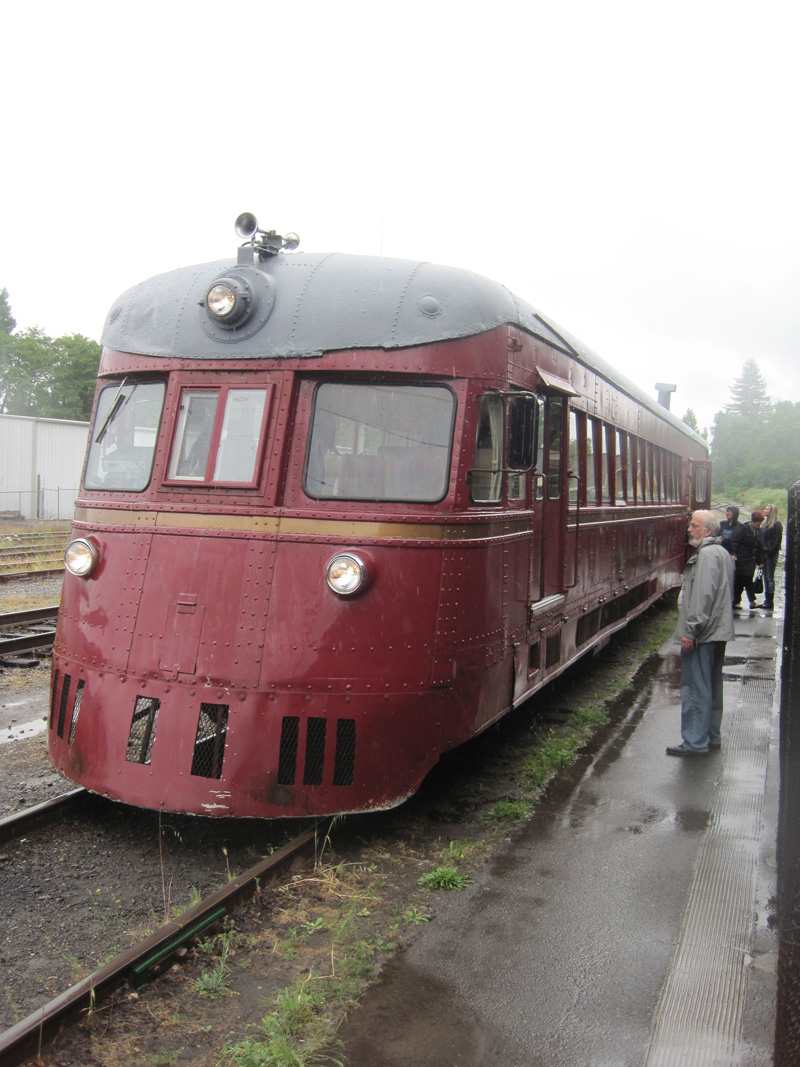 The second half of our ride from Northspur to Willits ... a 1935 rail car. We're inside finishing off the rest of the Roederer Estate Champagne.