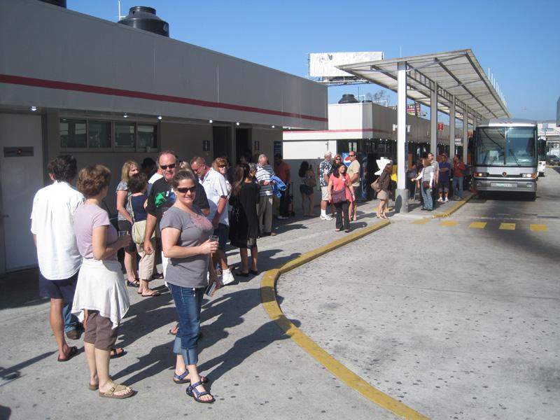 Crossing the border in Tijuana