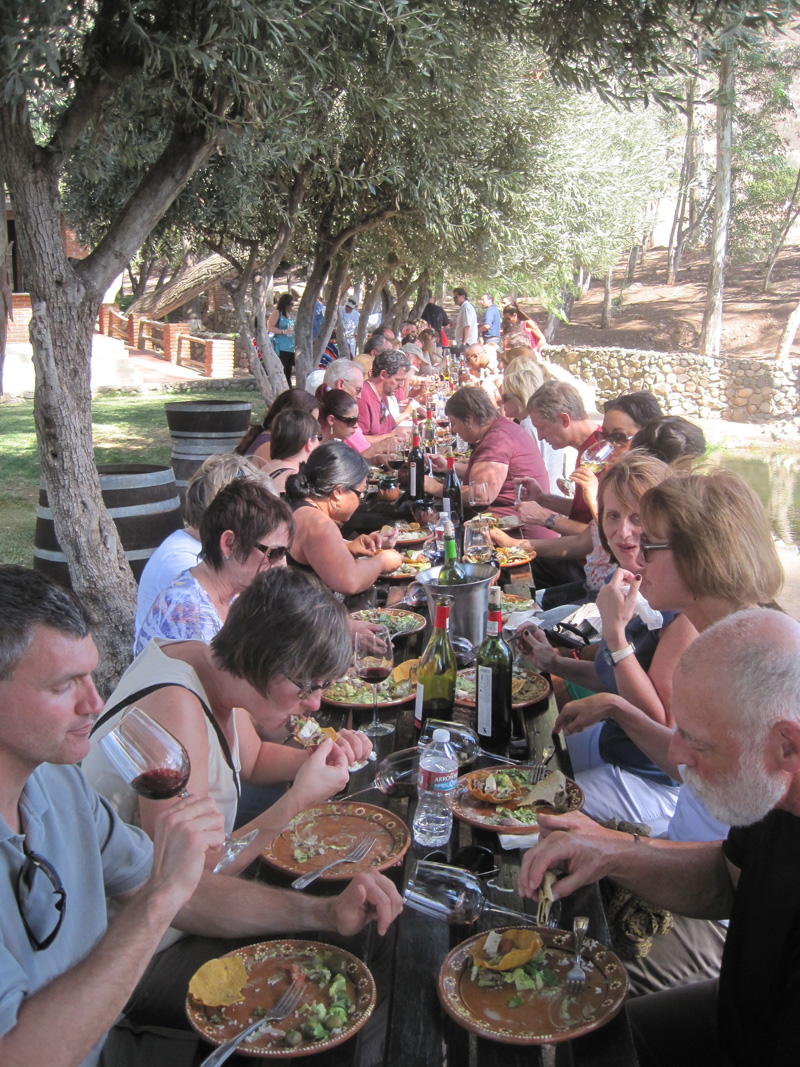 Lunch at Santo Tomas Vineyards