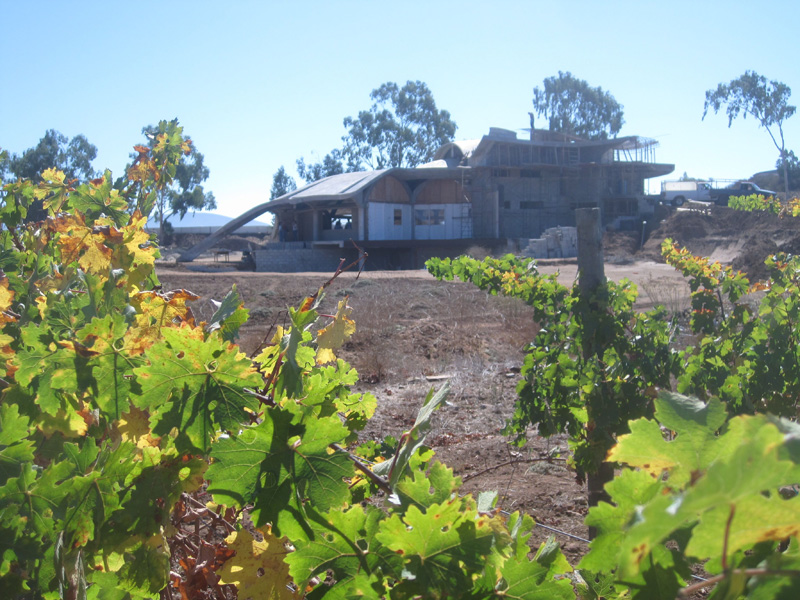 Exterior (under construction) of Alximia Winery