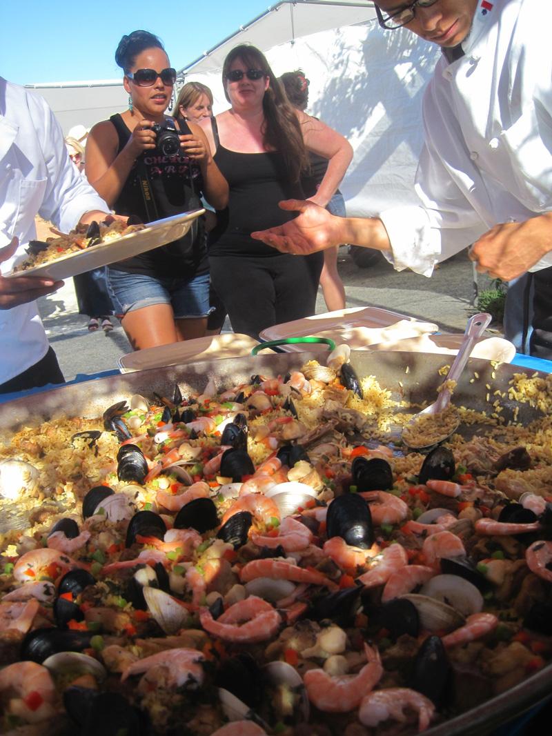 Paella lunch at Lechuza Vineyards