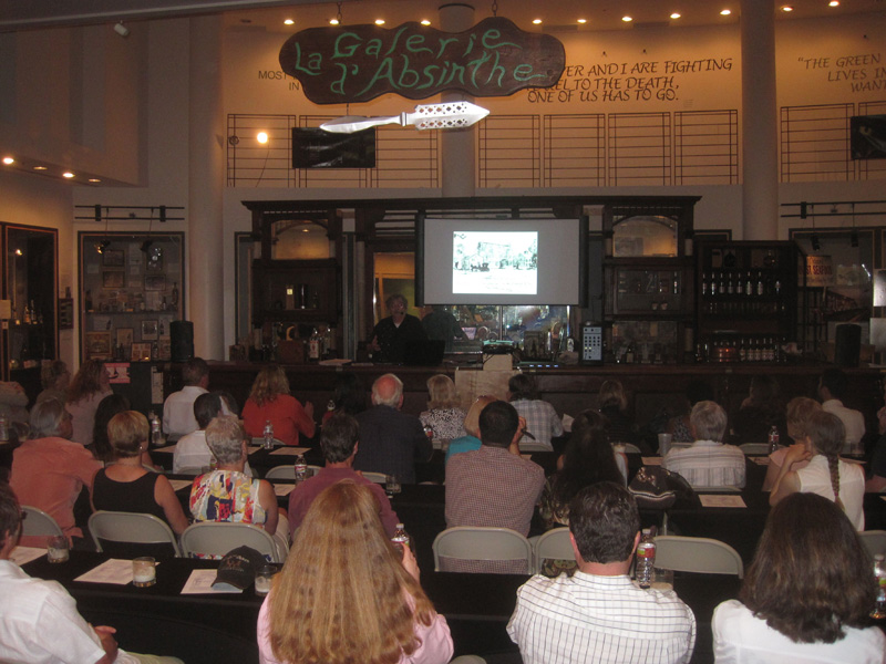 Cocktail demonstration with Chris McMillian at the Museum of the American Cocktail