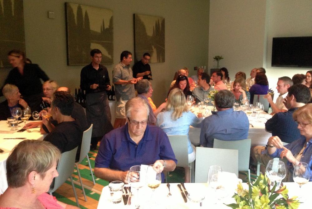 Sika winemaker with Paris Driggers at H2 Hotel in Healdsburg