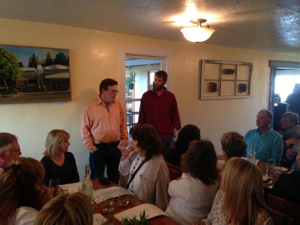 Winemaker dinner with Adam Lee of Novy Winery at Backyard Restaurant in Forestville.