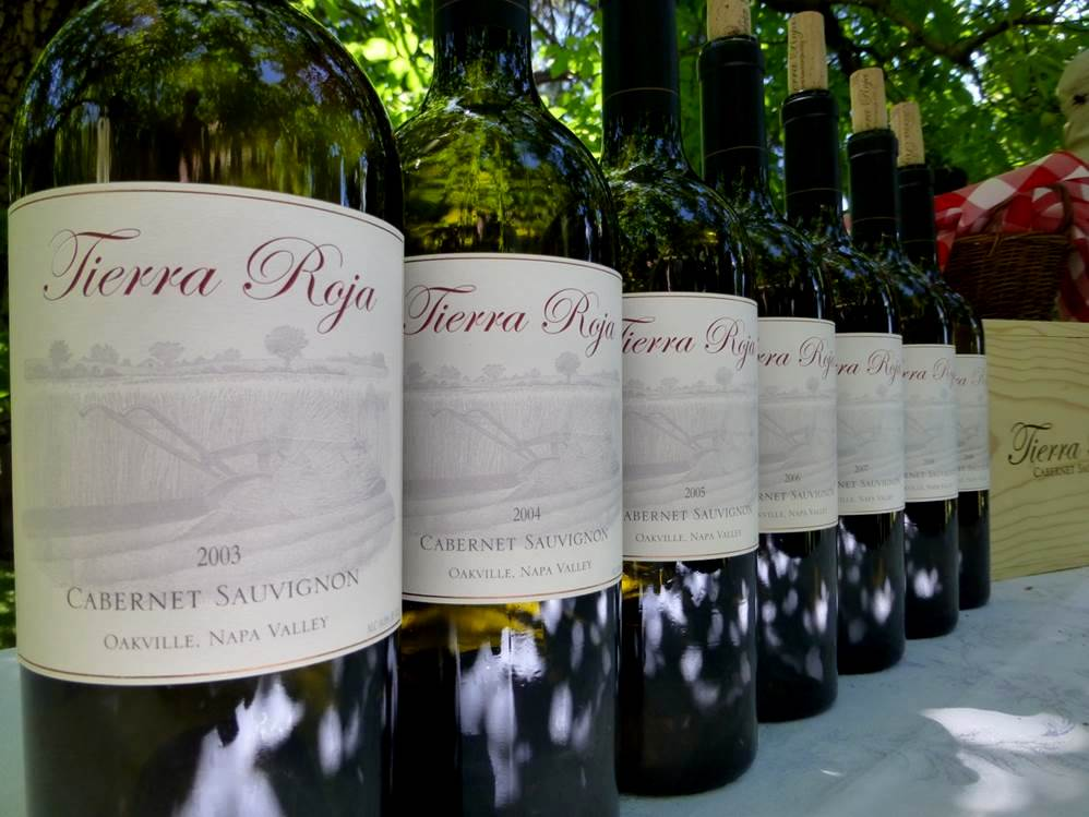 Enjoying a seven year vertical of every vintage made of Tierra Roja Cabernet Sauvignon from 2003 through 2009 (before noon)