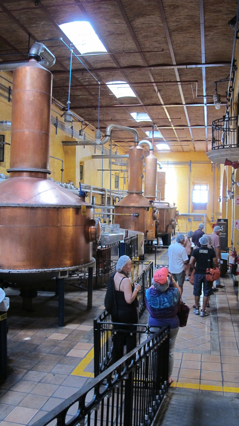 Copper tequila stills at Jose Cuervo