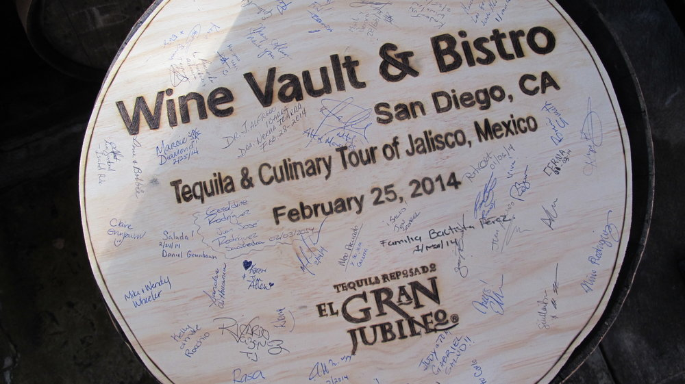 Our own autographed barrel head at El Gran Jubile