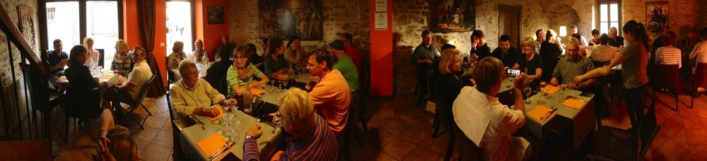 Cassoulet dinner at Restaurant Adelaide in the ancient walled city of Carcassonne