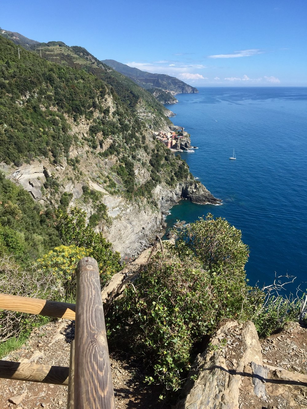 About half of the group hiked at least one of the rigorous Cinque Terre trails and were rewarded with jaw-dropping views like this.