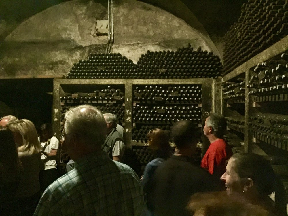 Private cellar at Badia a Coltibuono.  The oldest bottles date back to 1937.