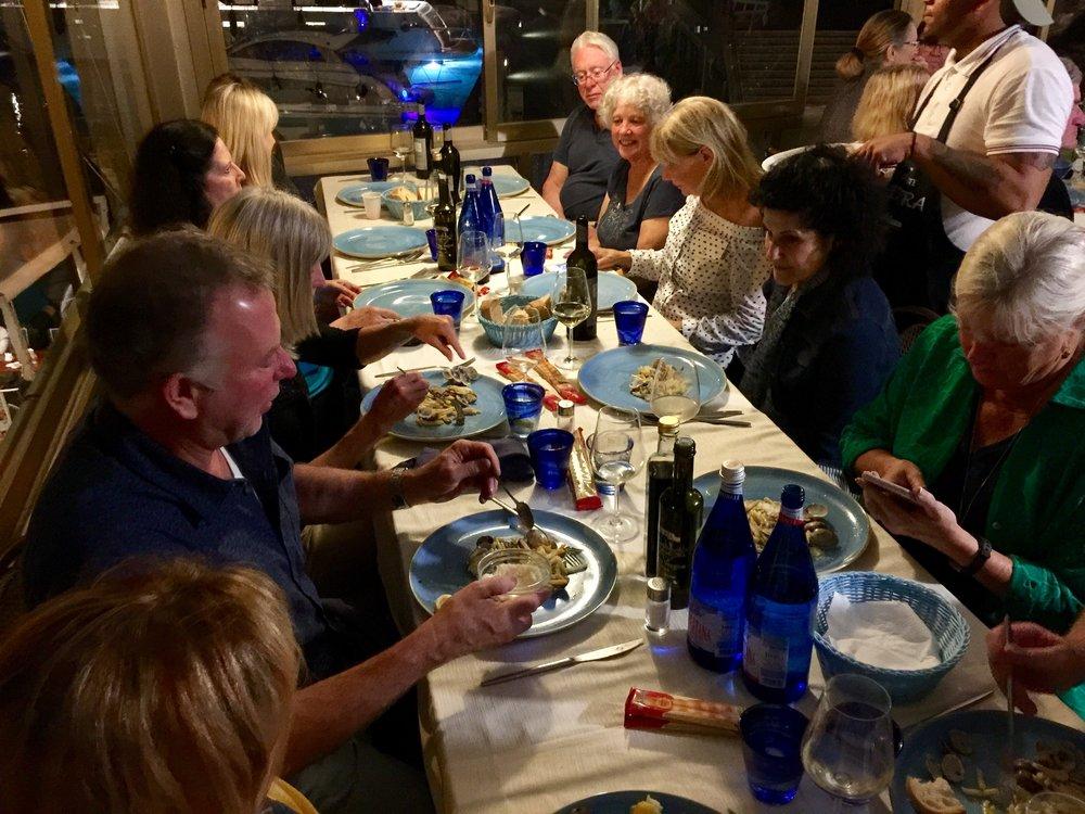 Dinner at ColleMassari.