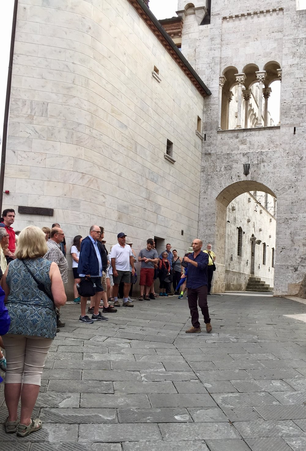 Copy of  Antonio welcoming everyone at the entrance to Castello delle Serre, a 1,500 year old castle that he and his father restored.  We had dinner there after the castle tour.