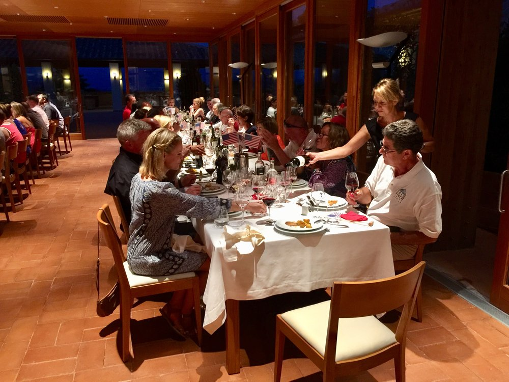 Copy of  Dinner on the harbor at Elettra restaurant in Portovenere.  After all the cheese and cold cuts in Tuscany everyone was ready for this amazing all seafood dinner paired with unlimited Vermentino!