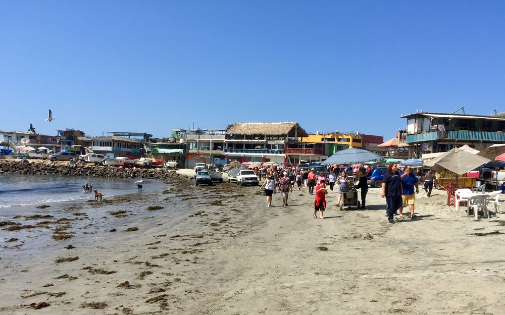 Fishermen's market on the beach at Puerto Popotla