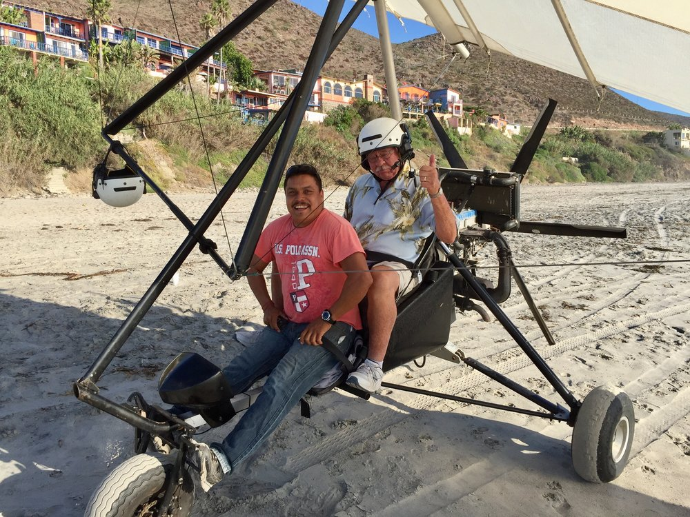 Buckle up for an ultralight flight over the beach at La Fonda
