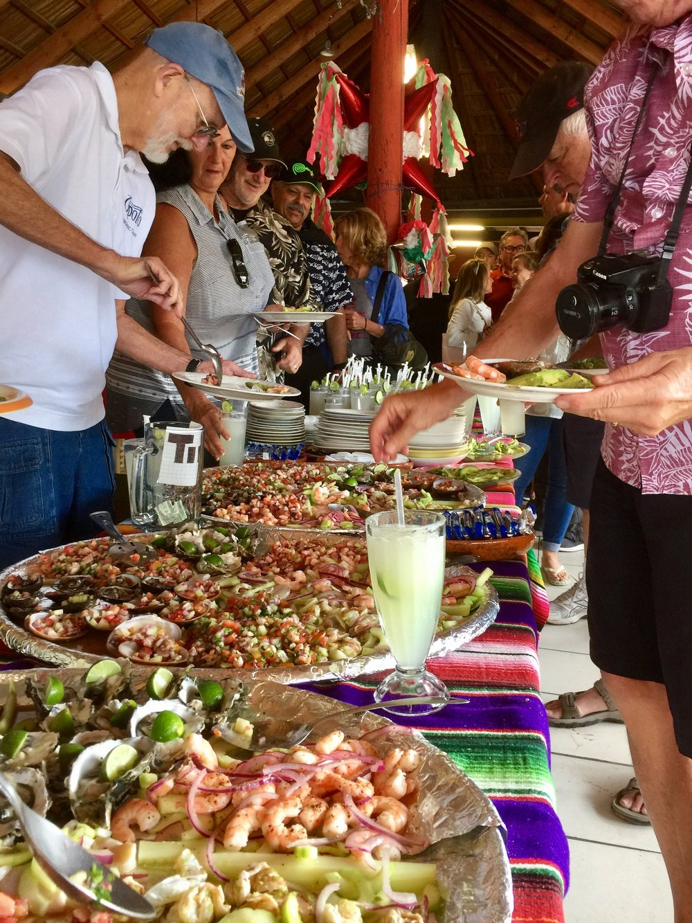 Mariscos and margaritas in Puerto Popotla