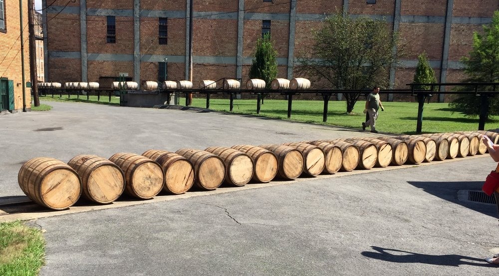 Barrel run at Buffalo Trace.