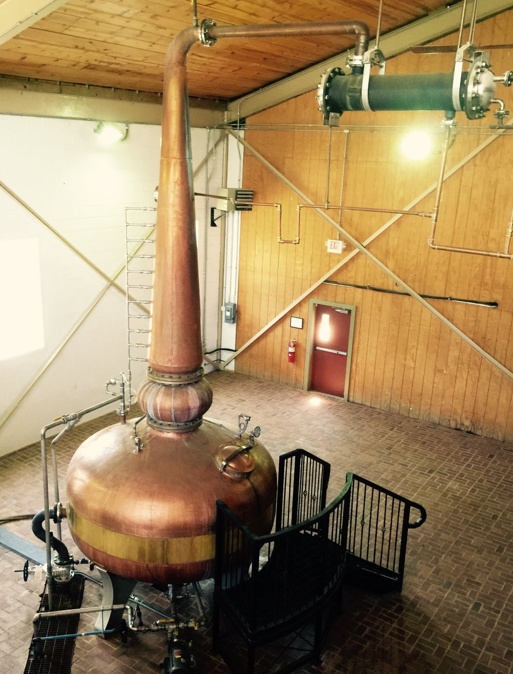 The famous copper pot still at Willett Distillery.  Their Bourbon is packaged in unique bottles that replicate the shape of this iconic still.