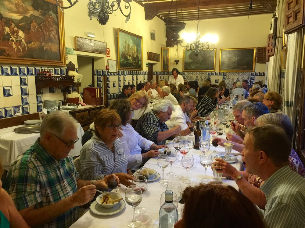 Opening night festivities at Restaurante Botin in Madrid.   Opened in 1725, it is the oldest continuously operating restaurant in the world.