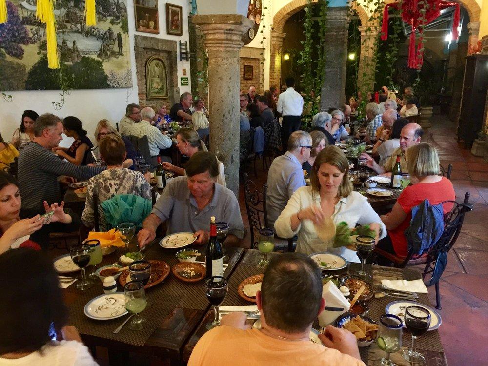 First night's dinner at El Pilon de los Arrieros in Guadalajara.