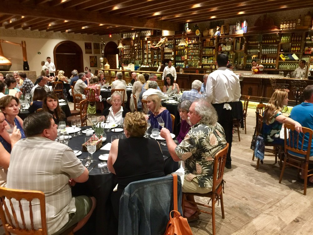 Finale dinner in Cuervo's private dining room, Tienda de Raya