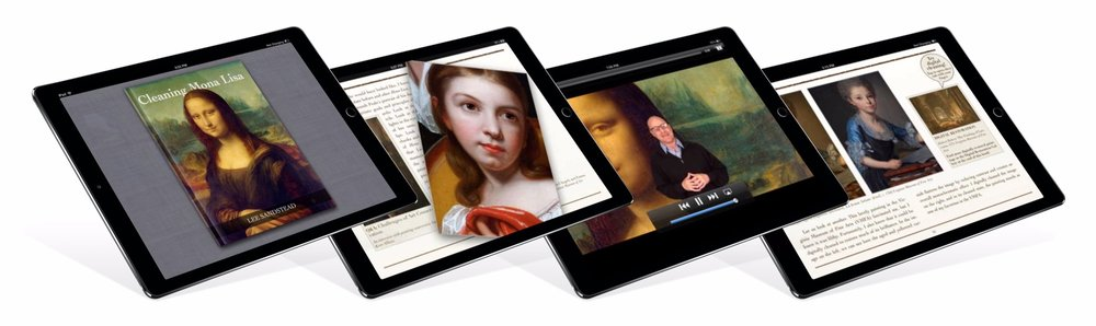 Cleaning Mona Lisa: A multimedia digital book that brings art to life with art historian, Lee Sandstead