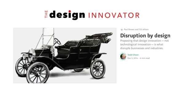 "Todd is the principal author of ""The Design Innovator"" blog on Medium (click to open publication)"