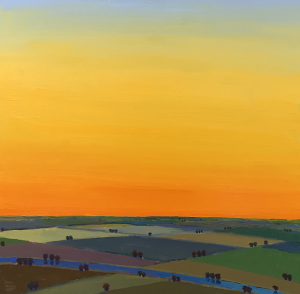Summerset, 2017, oil on panel, 18 x 18