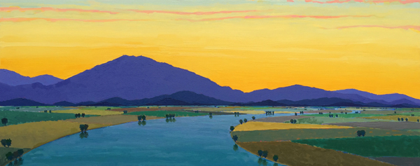 Evening Aria, 2016, oil on panel, 24 x 60