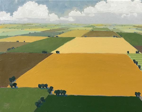 Depth of Field, 2018, oil on canvas, 16 x 20