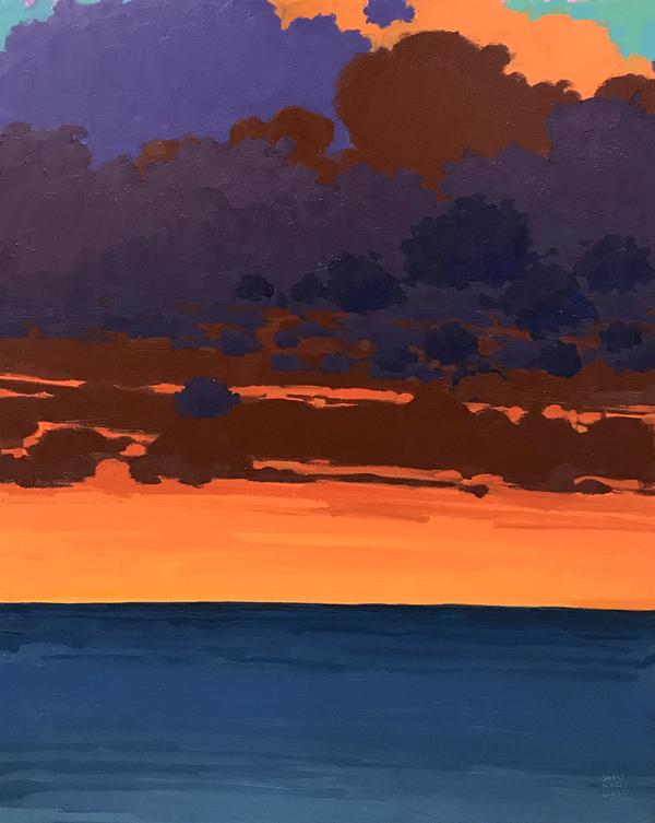 Evening Illumination, 2018, oil on canvas, 40 x 30