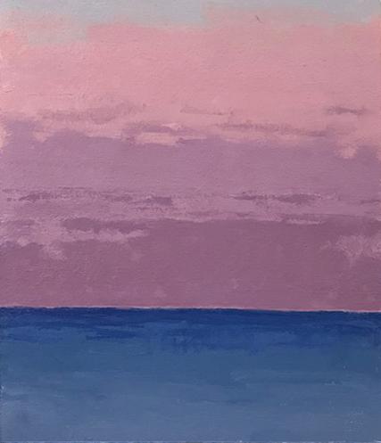 Morning's Grace, oil on paper, 8 x 7