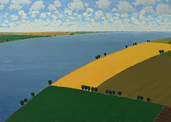 Riverside Farms, 2016, oil on panel, 24 x 33