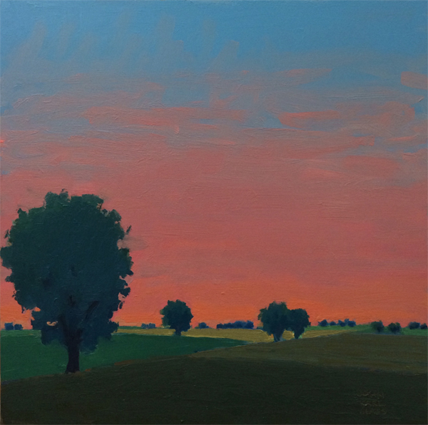 Delicate Fade, 2014, oil on panel, 16 x 16