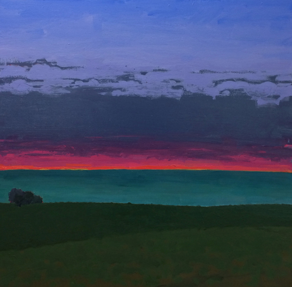 Central Coast (Ocean View), 2014, oil on panel, 28 x 28