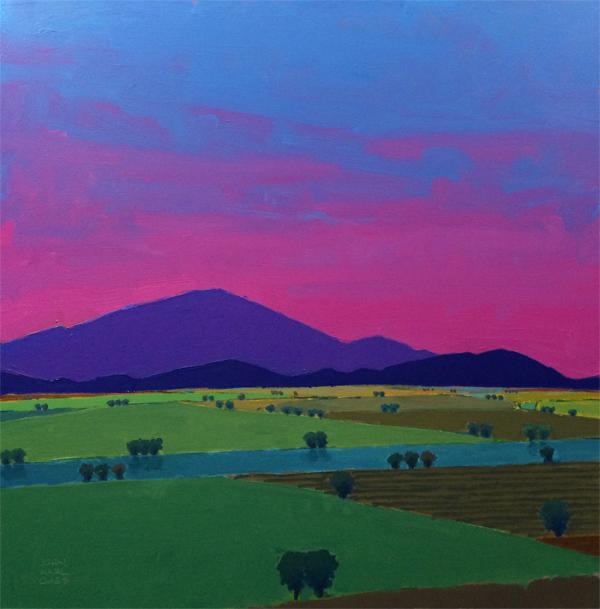 Twilight, 2014, oil on panel, 24 x 24