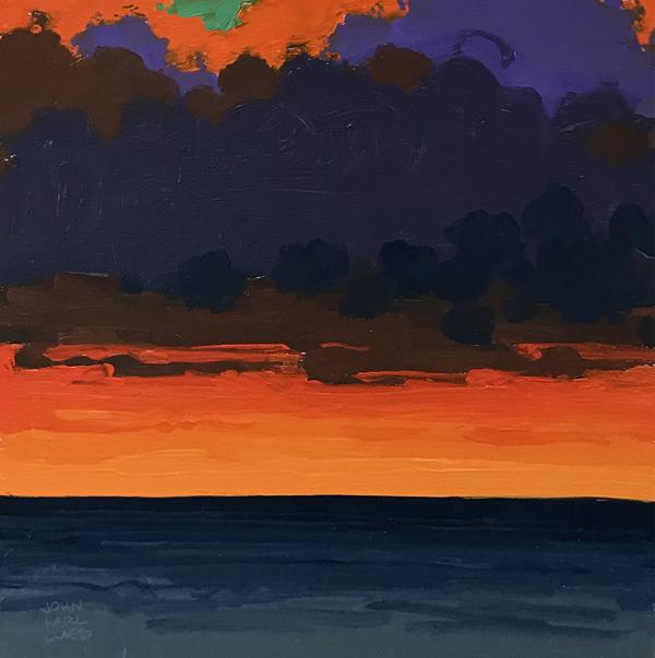 study for - Evening Illumination, 2018, oil on panel, 10 x 10