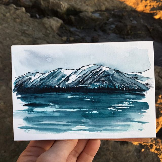 I just finished reading Into Great Silence and it wrecked me. What a beautiful book about orcas and place. I highly recommend it. Eva's descriptions of Prince William Sound inspired this sketch. 🌊 . . . . . . . . . . . . . #art #watercolor #watercolors #watercolour #watercolours #watercolourpainting #watercolorstudy #watercolorsketch #watercolorpainting #pleinair #pleinairpainting #landscape #landscapepainting #painting #holbein #windsornewton #artgram #artistsoninstagram #instaart #instaartist #artwork #artistsofinstagram #watercolorart #seward #sewardalaska #qorwatercolors #danielsmith #danielsmithwatercolors