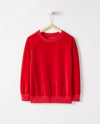 My girls love this Velour Sweatshirt. I just purchased it in another color.