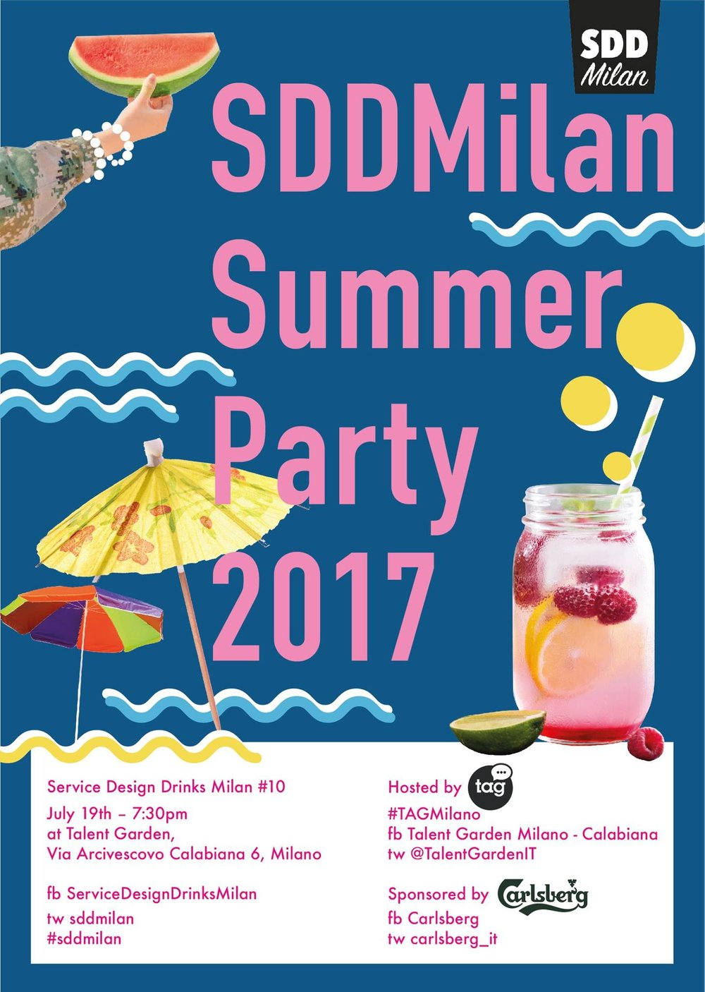 Service Design Drinks Milan #10 - Summer Party 2017
