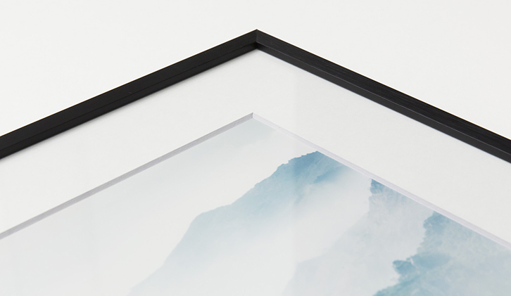 Thin Black Frame with a Print
