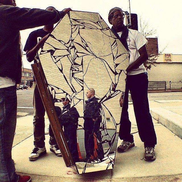 Activist and organizer, Derek Laney, one of the creators of the Mirror Casket
