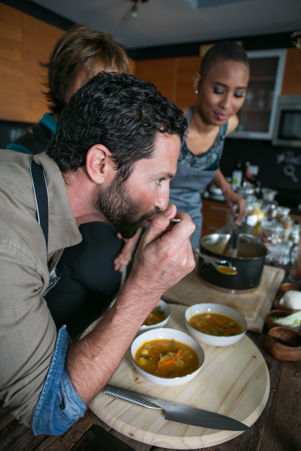 The Spice Detective trying Soup Joumou with Luxe Fete.jpg