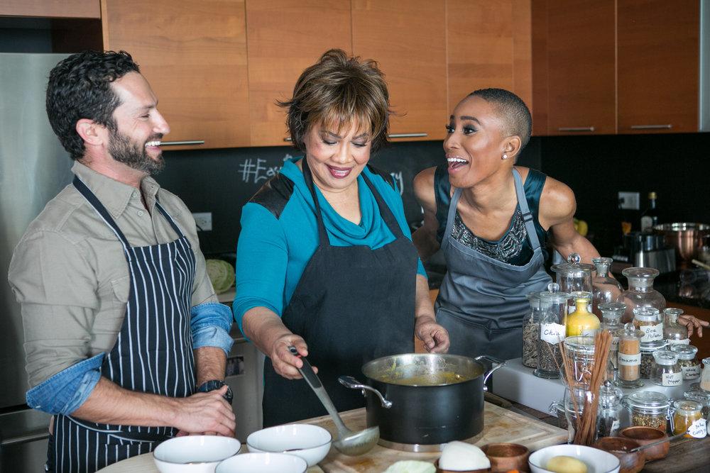 Yaniv Cohen Evelyn Cadet and Nathalie Cadet James Cooking Soup Joumou.jpg