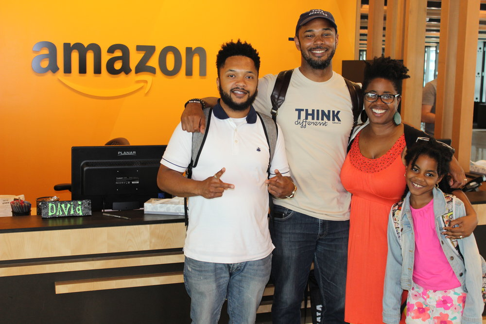 S.A.M. at Amazon HQ in Seattle