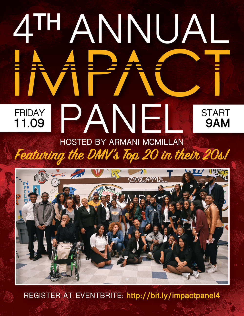 Flier for  IMPACT dmv, Inc.  Designed by  S. Robinson